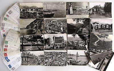 42x Frankreich France Lot Postkarten Mit Briefmarken Frankiert Gelaufen Ab >1950 Diversifizierte Neueste Designs