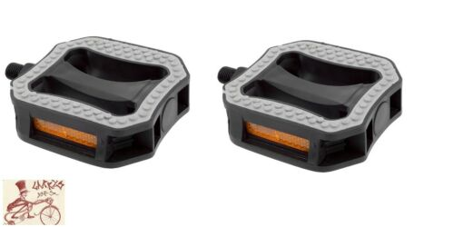 """SUNLITE COMFORT GRIP ABS RESIN GRAY//BLACK 1//2/"""" BICYCLE PEDALS"""