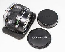 Good++ OLYMPUS OM 85mm F/2 F.ZUIKO AUTO-T MF Lens Made In Japan