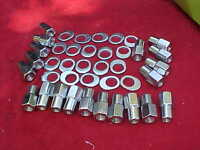 20-12mm X 1.5 Nhra Open End Mag Wheel Lug Nuts,keystone/etc With Offset Washers
