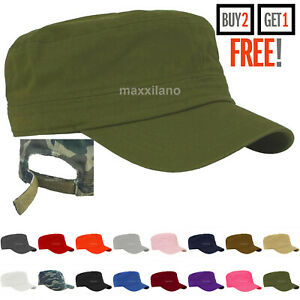 Men Cap Army Hat Cadet Castro Military Patrol Baseball Summer Camo Camouflage