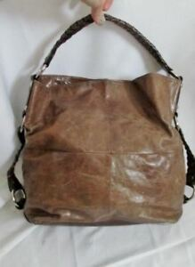 c8f59174f666 TANO HANDBAGS Leather Patchwork Hobo Shoulder Bag Tote Satchel Purse ...