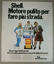 Pubblicità vintage 1972 SHELL CARBURANTE advertising werbung publicité reklame