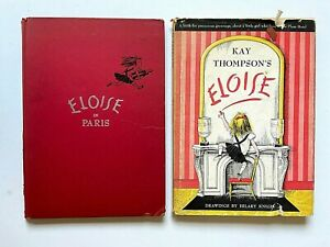 1957-1959-1st-Ed-ELOISE-and-ELOSIE-IN-PARIS-Kay-Thompson-Hilary-Knight