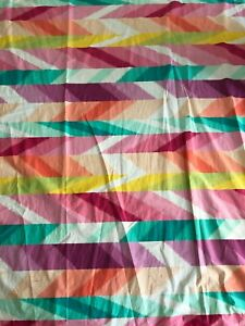Shower Curtain Pottery Barn Teen Pb Bright Colorful Summer 100 Cotton Ebay