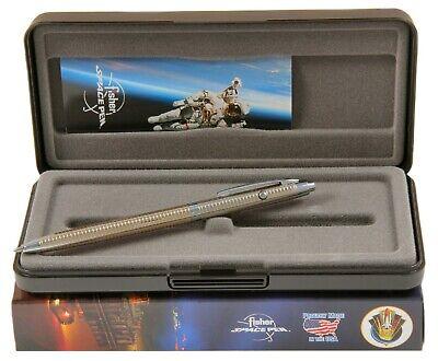 Chrome Pen with Gold Grid Design Retractable Pen Fisher Shuttle Series #G4