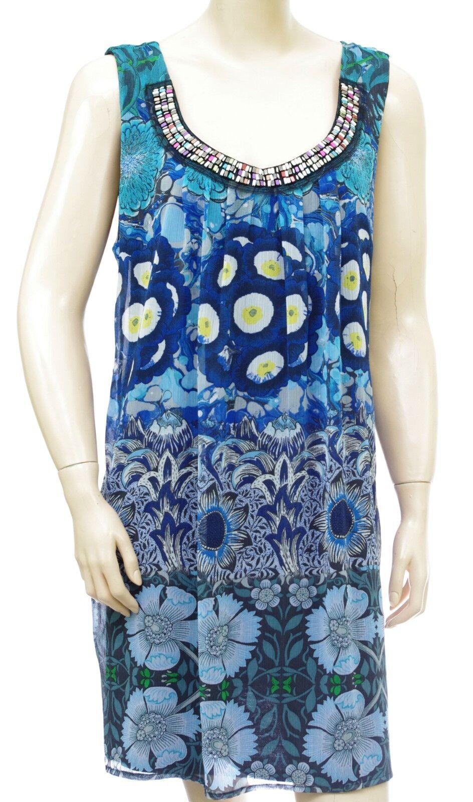 DESIGUAL robe voile collier Vest FRANCOISE blu Donna  18SWVWE5 5033