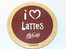 McDonald's I Love Lattes McCafe Advertising Button