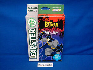 Leapster-BATMAN-MULTIPLY-DIVIDE-AND-CONQUER-Game-Cartridge-Brand-New-Leap-Frog