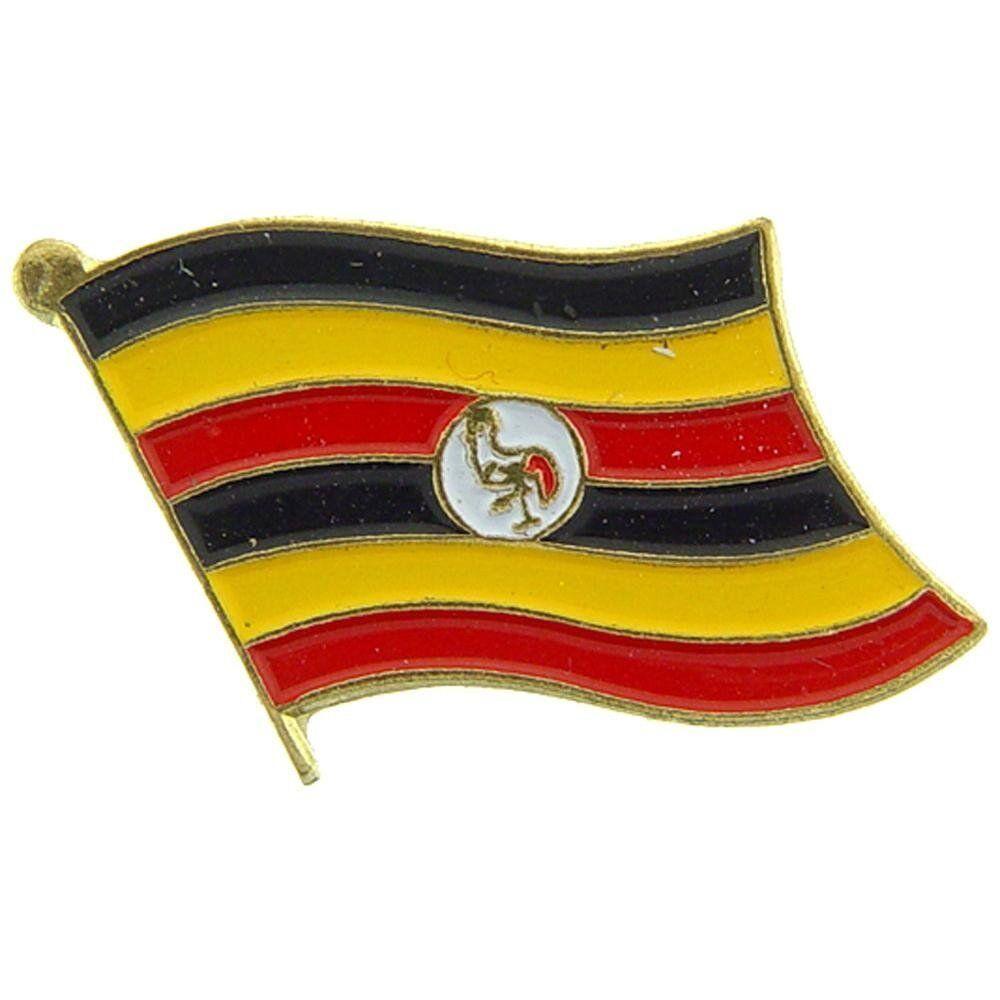 Großhandel 50 Stück Packung Uganda Landesflagge Fahrrad Hut Kappe Reversnadel