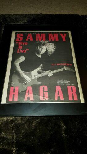 Sammy Hagar Give To Live Rare Original Radio Promo Poster Ad Framed!