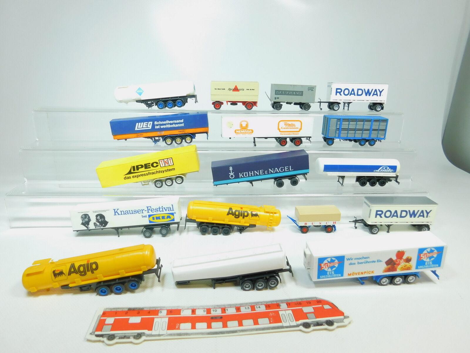 Bn206-1# 17x h0/1:87 remorque pour camion: AGIP  IKEA etc (Herpa etc), 2. Choix | Faible Coût