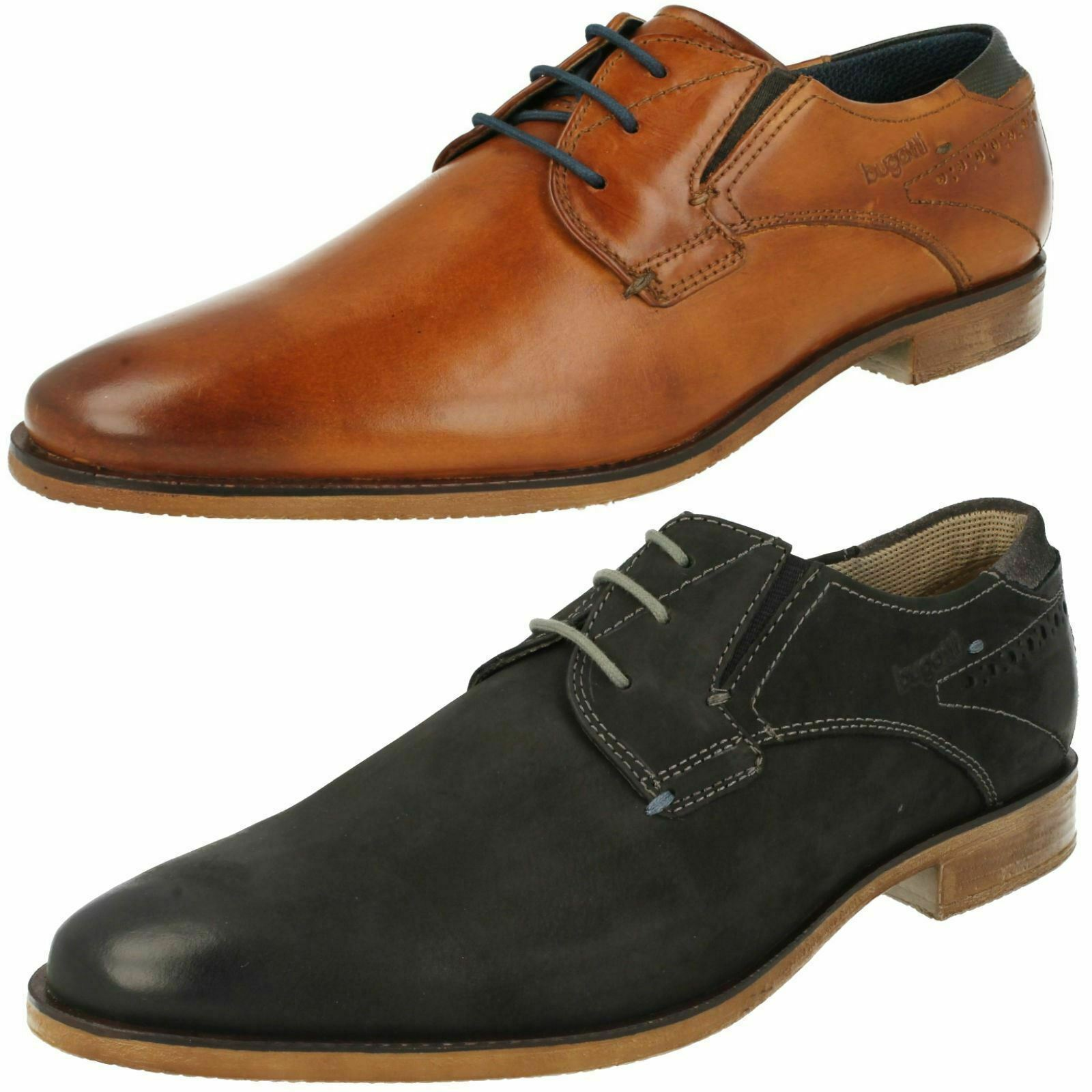 MENS BUGATTI LEATHER LACE UP SMART FORMAL OFFICE WEDDING schuhe 311-25101-1000