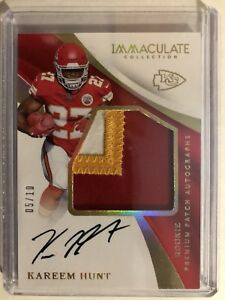 2017-Immaculate-Football-Kareem-Hunt-RPA-3-Color-Premium-Patch-Auto-05-10-Chiefs