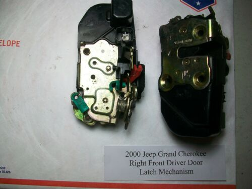 2000 Jeep Grand Cherokee Right Front Door Latch W// Power Actuator TESTED #DS031/>