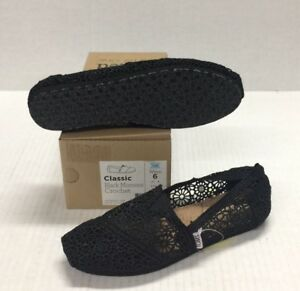 b6bb7d7dfe9 Image is loading Toms-Classic-Black-Morocco-Crochet-001096B10BLK