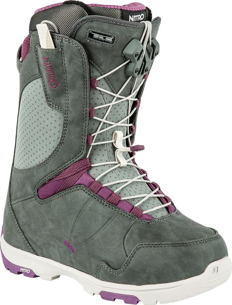 New 2015  Nitro Crown TLS Snowboard Boots Womens 9 Slate Grey - Purple  no hesitation!buy now!