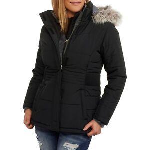 851ec0954bd Free Tech Women s Heavyweight Puffer Coat With Faux Fur Trim Size 12 ...