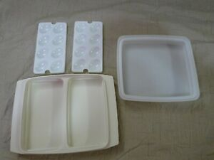 Tupperware Deviled Egg Keeper/Carrier Tray Tan 723-3