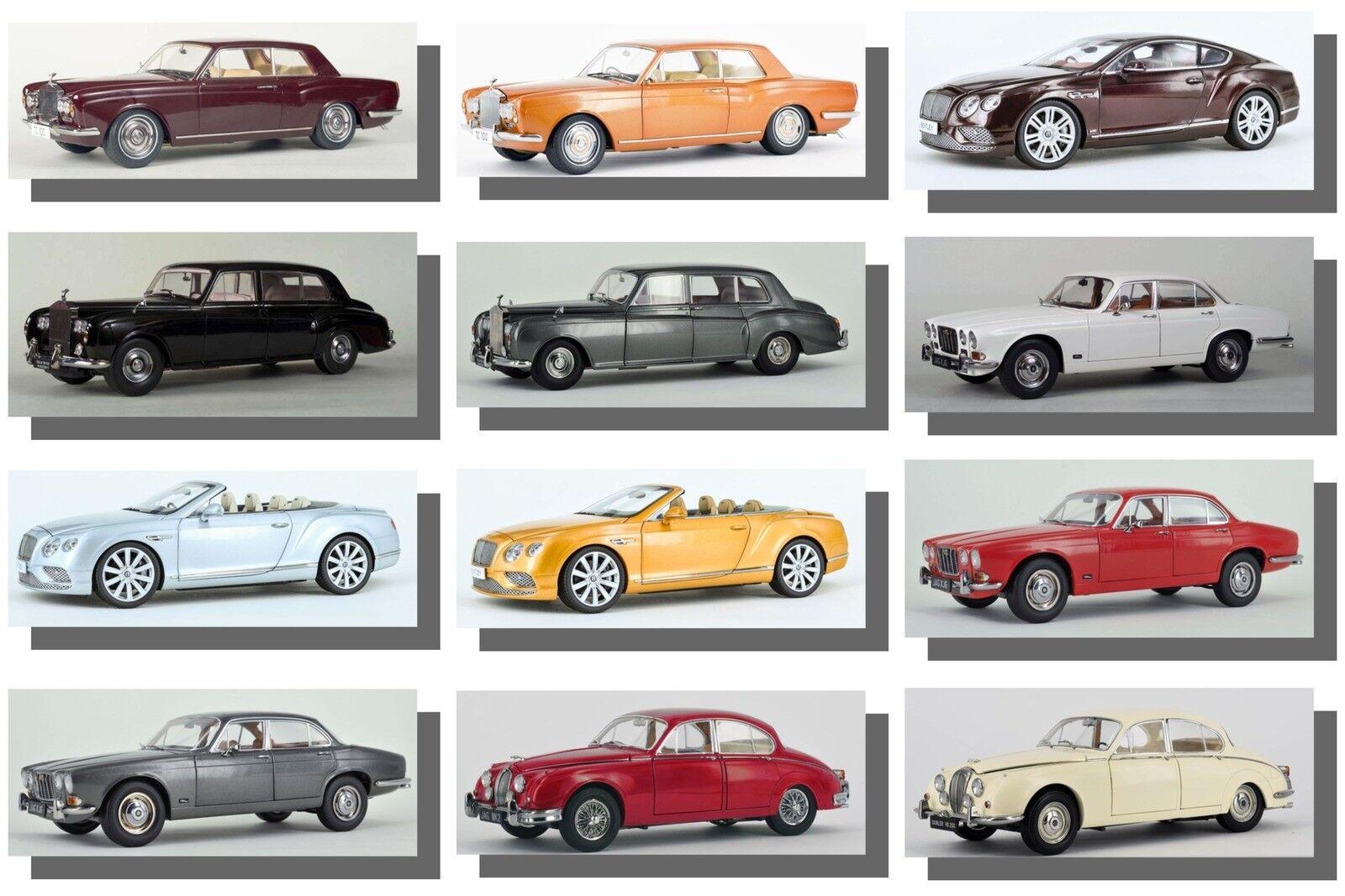 Jaguar, Rolls Royce voitures, Daimler Cars, échelle 1 18 Modèles Paragon.