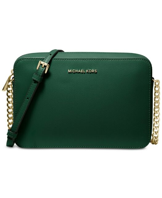 d05e534f58d7 Michael Kors East West Large Crossbodies Crossbody Racing Green Leather