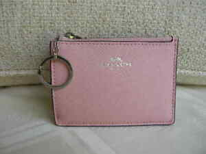 Authentic-Coach-F12186-Crossgrain-Leather-Mini-ID-Skinny-in-Blush-or-L-Pink