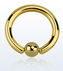 BALL-CLOSURE-RING-LippenPiercing-Ohrring-BRUST-Nasenring-GOLDLINE-Intim-Tragus