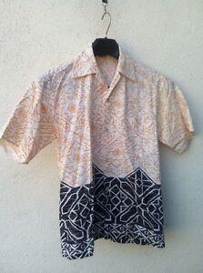99820f2f Image is loading Vintage-TROPICANA-HAWAII-Geo-Tribal-Print-Hawaiian-Shirt-