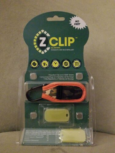 Z Clip All Natural Bug and Mosquito Repellent Clip DEET-Free Orange