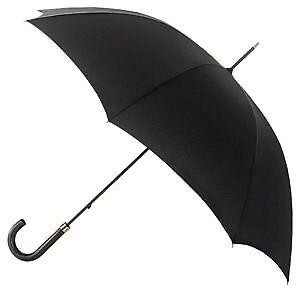 Fulton Governor homme grand parapluie Crochet Poignée Noir
