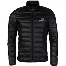 Mens Emporio Armani EA7 Quilted Down Jacket In Black