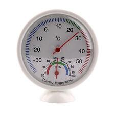 Round Mini Indoor Analog Temperature Humidity Meter Thermometer Hygrometer