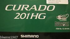 SHIMANO CURADO CU201IHG 7.2:1 LEFT HAND 6BB,BAITCAST REEL NEW IN BOX,NEVER USED