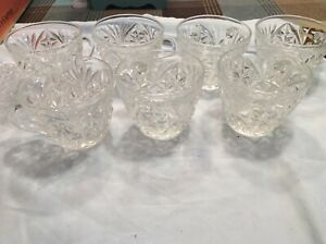 7-Vintage-Pattern-Glass-Punch-Bowl-Cups