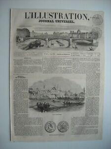 Obligeant Gravure 1853. Vue De Constantinople. Nouvelle Monnaie De Bronze Francaise.