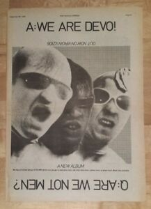 Devo-are-we-not-men-1978-press-advert-Full-page-28-x-39-cm-poster