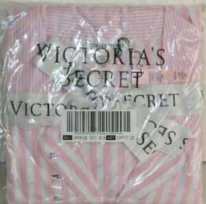 Cheaper shopping aspetto dettagliato Nuovo Victoria's Secret Flanella Pigiama Rosa Bianco a Righe ...