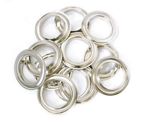 30mm Silver Eyelets Washers Grommets Brass Rust Proof Fabric Curtains Leather