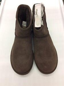 b27a4f415b3 Details about UGG Women Classic Mini II Sheepskin Boots 1016222 Chocolate  Size 6