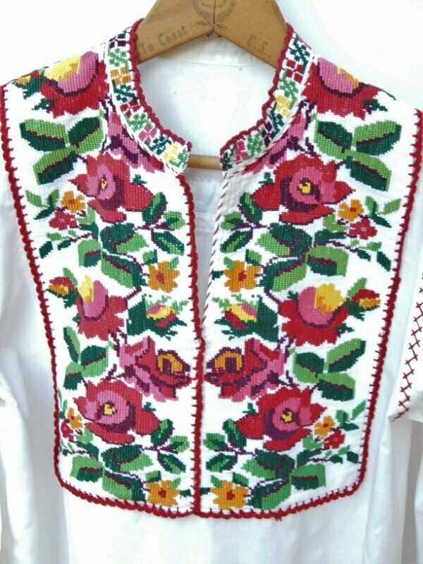 VINTAGE 50's/60's HUNGARIAN TOP~Needlepoint Embro… - image 2