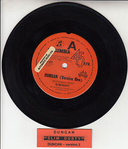 SLIM-DUSTY-Duncan-Version-1-2-7-45-rpm-vinyl-record-juke-box-title-strip