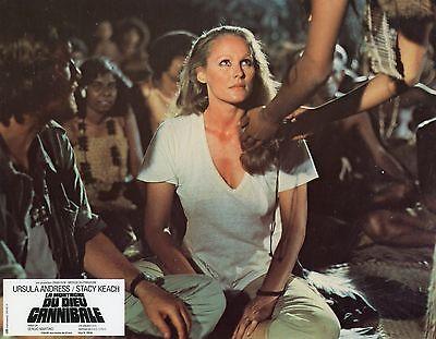 SEXY URSULA ANDRESS LA MONTAGNE DU DIEU CANNIBALE 1978 VINTAGE LOBBY CARD N°2