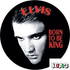 STICKERS AUTOCOLLANTS ELVIS PRESLEY - BORN TO BE KING USA - ROCK'N'ROLL - 10 CM