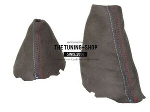 For Bmw 3 Series E46 Automatic Shift /& E brake Boot Leather M3////// Embroidery