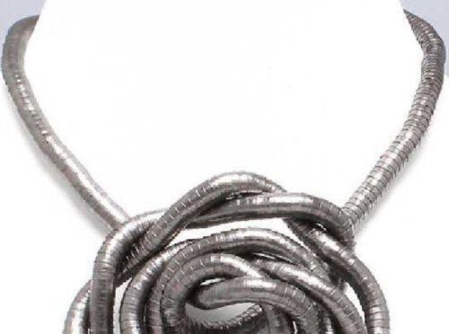 Metal serpiente flexible brazalete y moldeable collar cadena Snake pulsera halsreif