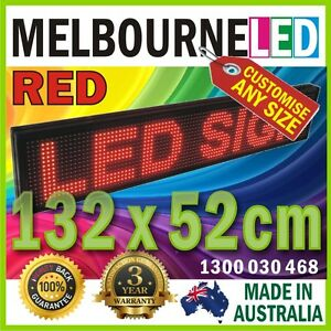 1.3m LED Scrolling Digital Sign 52 x 20.5 inch RED 1-4 Lines Window Display
