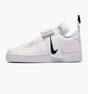 Details about NIKE AIR FORCE 1 UTILITY * WHITE BLACK * AO1531 101 * UK 10.5, 11.5
