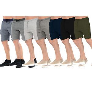 MENS-FLEECE-SHORTS-JERSEY-SWEAT-SUMMER-SPORTS-JOGGERS-CASUAL-PLAIN-LOUNGE-PANTS