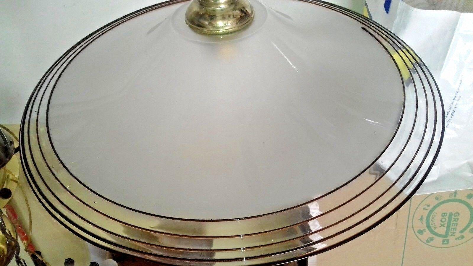 Lampadario disco vintage vintage vintage vetro murano chandelier