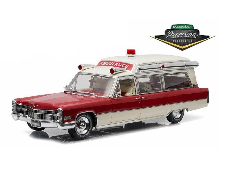 grandes precios de descuento 1 18 verdelight Colección Colección Colección de precisión Ambulancia Cadillac 1966 blancoo Rojo 18003  ofrecemos varias marcas famosas